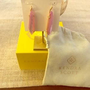 Kendra Scott Grey Earrings in Lilac MOP